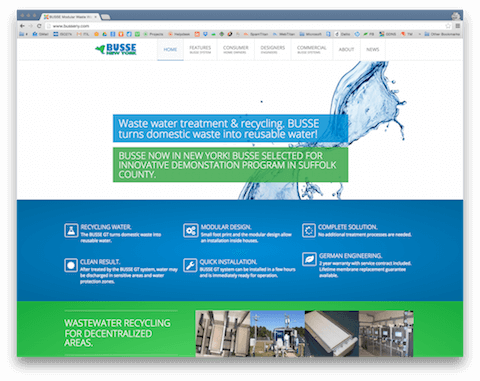 BUSSE NEW YORK - Modular Water Recycling