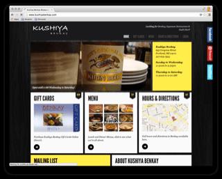Kushya Benkay Restaurant Website Design